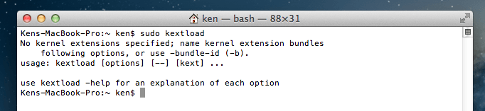Sudo kextload don't ask for password anymore!