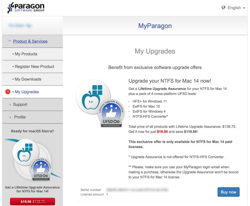 Paragon Upgrade Offer