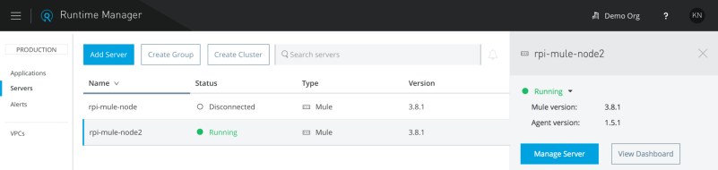 Managing Mule runtime on the Raspberry Pi from Anypoint Runtime Manager