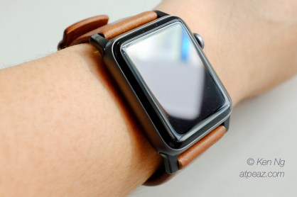Nomad Horween Leather strap for Apple Watch on my wrist