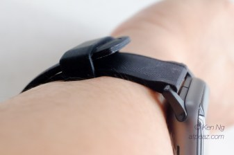 Nomad Silicone strap loosely fits into the loop
