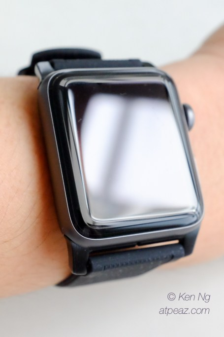 Nomad Silicone strap for Apple Watch on my wrist