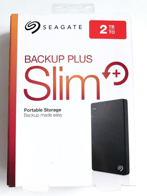 Seagate Backup Plus Slim 2TB - Packaging