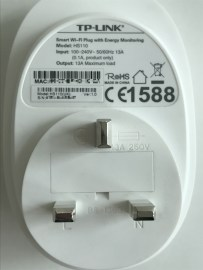 The back of the HS110 Smart Plug
