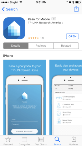 The Kasa app on the App Store