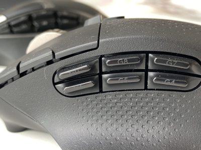 Logitech G604 side buttons