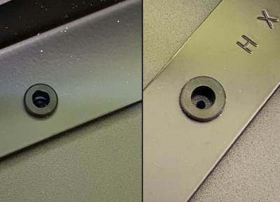 Omnidesk Pro - Pre-drilled screw holes perfectly aligns with the frame screw positions