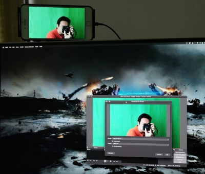 Setting up the green screen for use with OBS