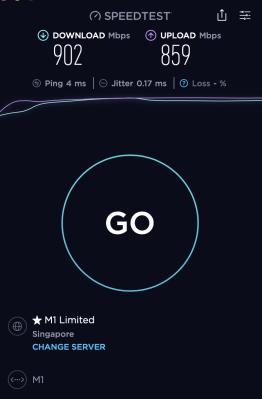 Baseus Armor Age Type-C - 1GB fibre broadband internet speed test over the LAN port