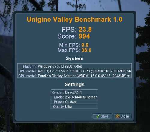 Unigine Valley Benchmark - 1440p Results
