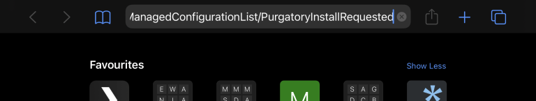 Manually entering the prefs:// url scheme on Safari on the iPhone