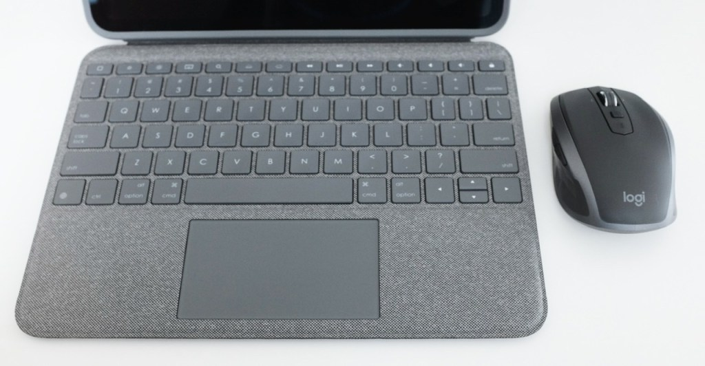 Logitech Folio Touch with the MX Anywhere 2S