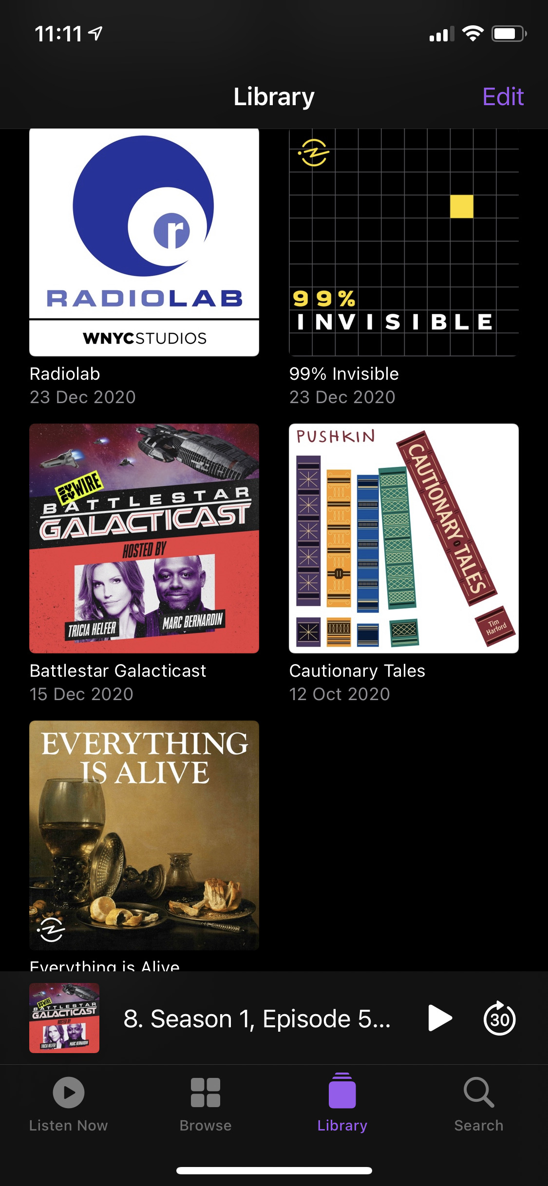 Apple Podcast library