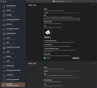 create ios app icons with web clips