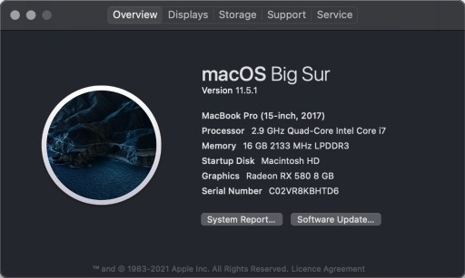 My MacBook Pro with an AMD RX580 eGPU setup
