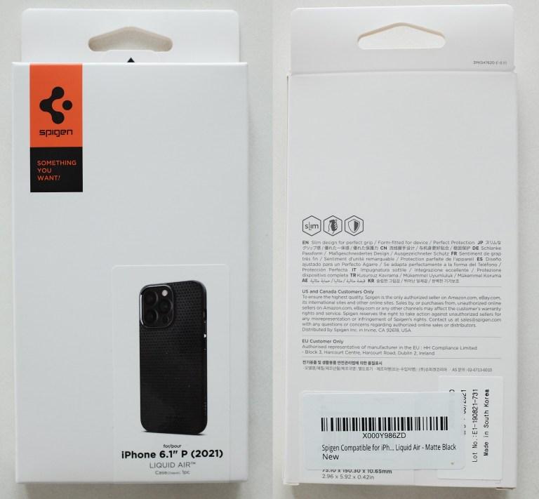 Spigen Liquid Air iPhone 13 Pro - box