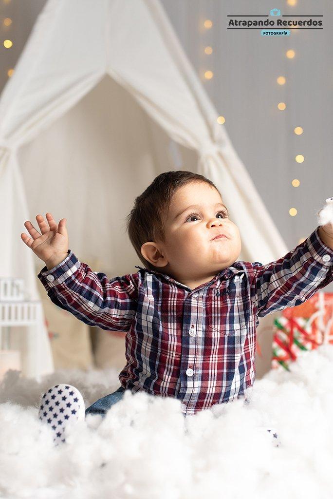 Reportaje de navidad a bebe