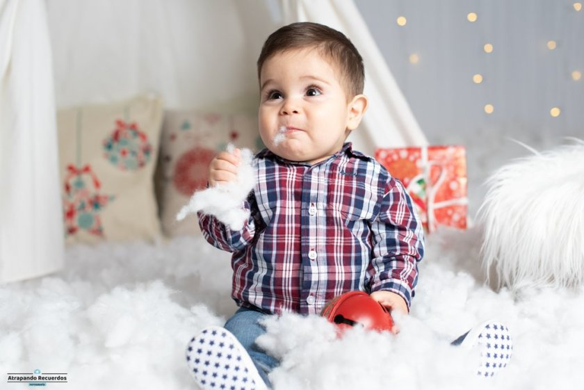 Fotos de bebés sesion de navidad en Bilbao