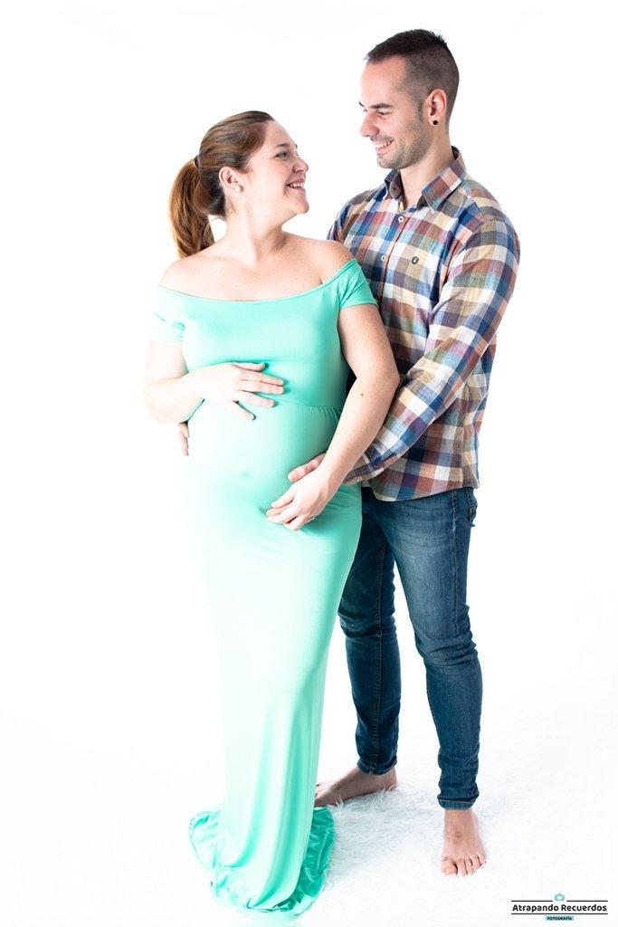 sesion fotos embarazo estudio bilbao