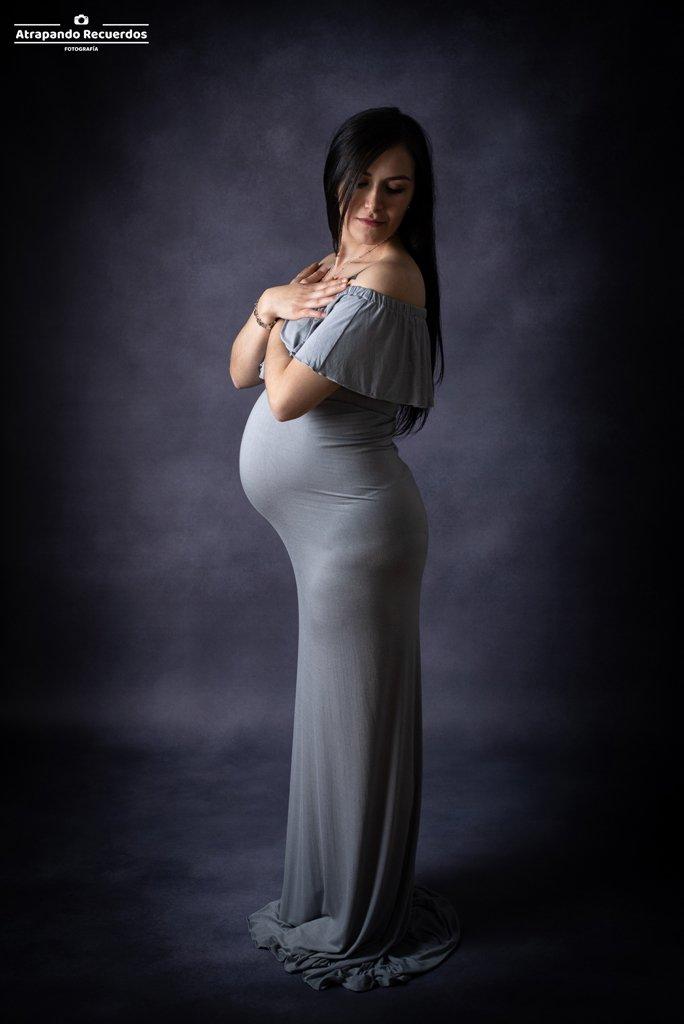 vestido de embarazo bilbao gris
