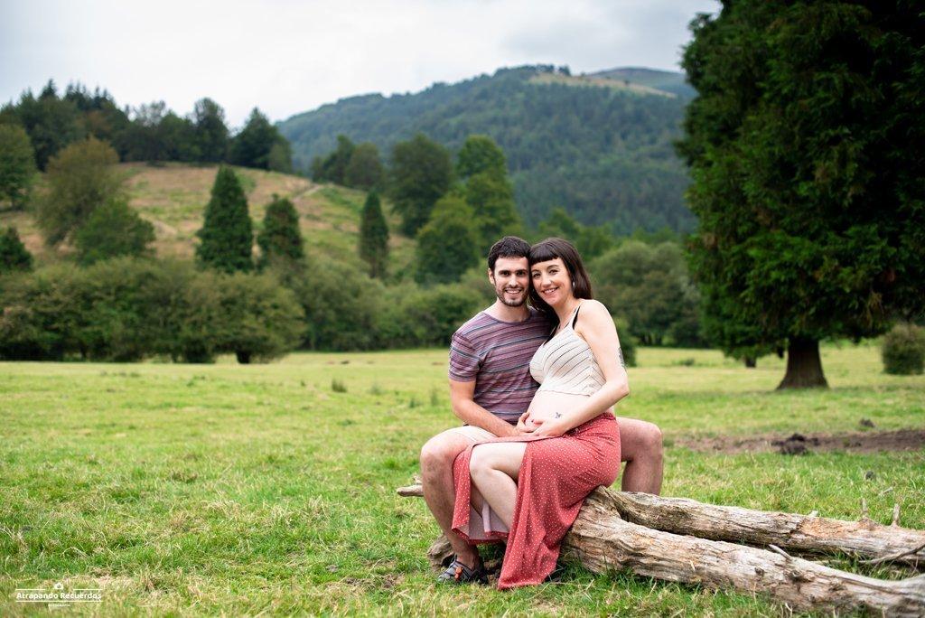 Fotografia embarazo exterior bizkaia