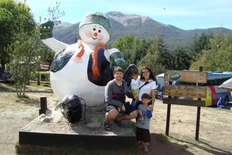 Boneco de neve símbolo de Villa la Angostura