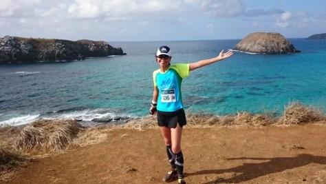 Correndo meia maratona de Noronha, praia do Leão