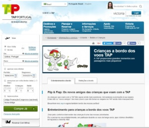 Site da TAP