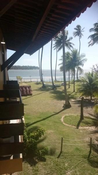 Vista do meu quarto no Sítio Boa Esperança, na Praia dos Carneiros