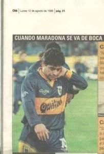 Maradona sai do Boca