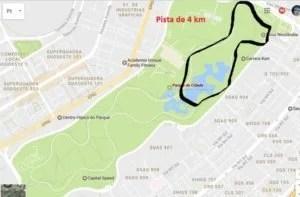 Pista de 4 km do Parque da Cidade em Brasília