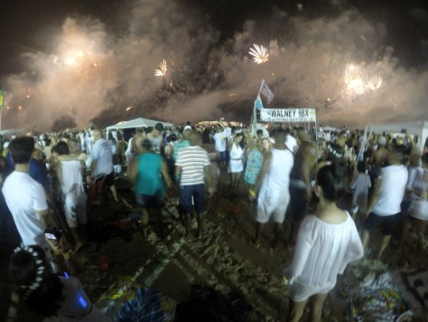 Réveillon em Copacabana, na queima de fogos