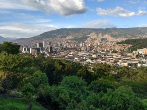 Vista de Medellín desde o Cerro Nutibarra