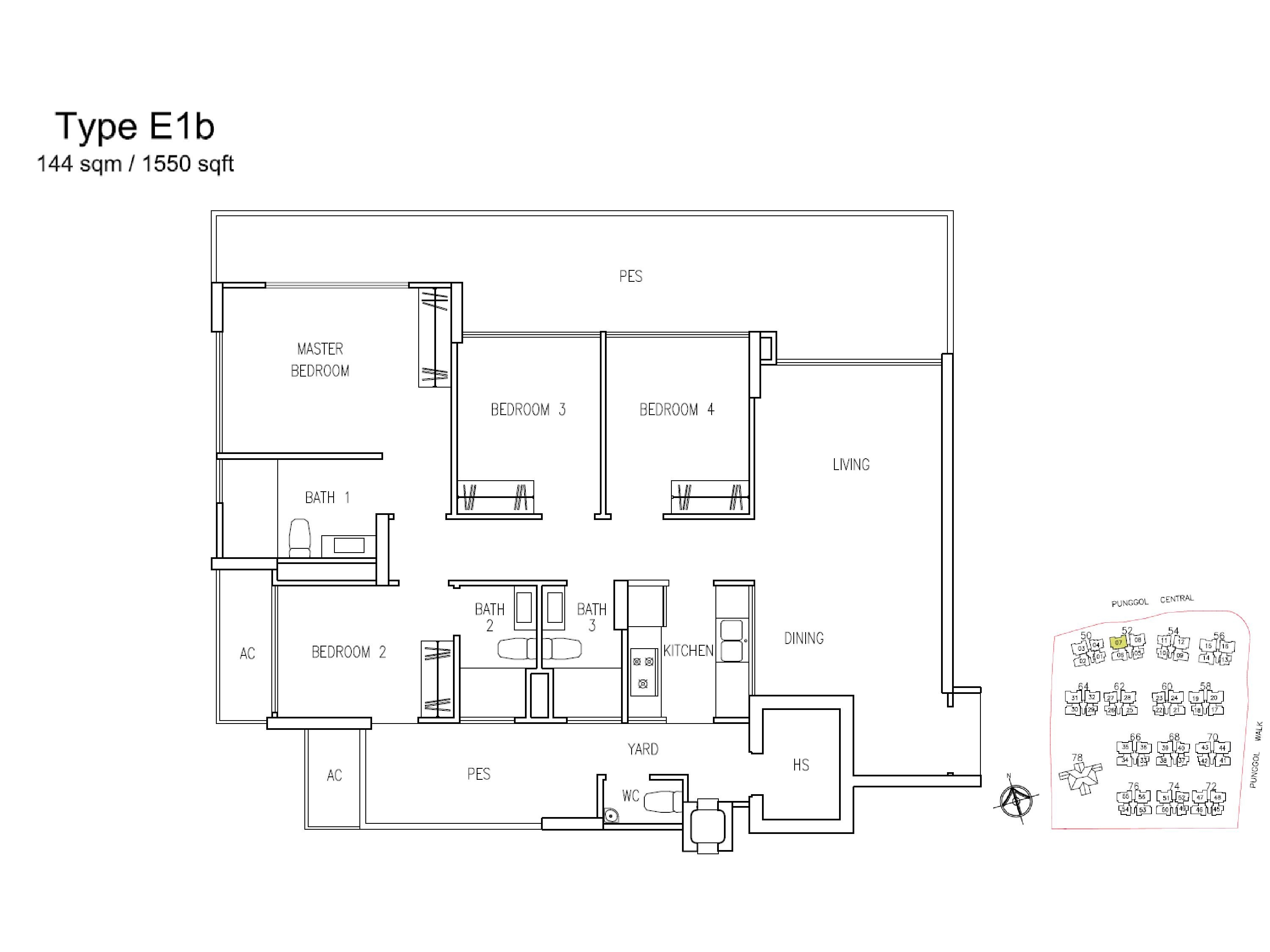 A Treasure Trove 4 Bedroom Type E1b Floor Plans