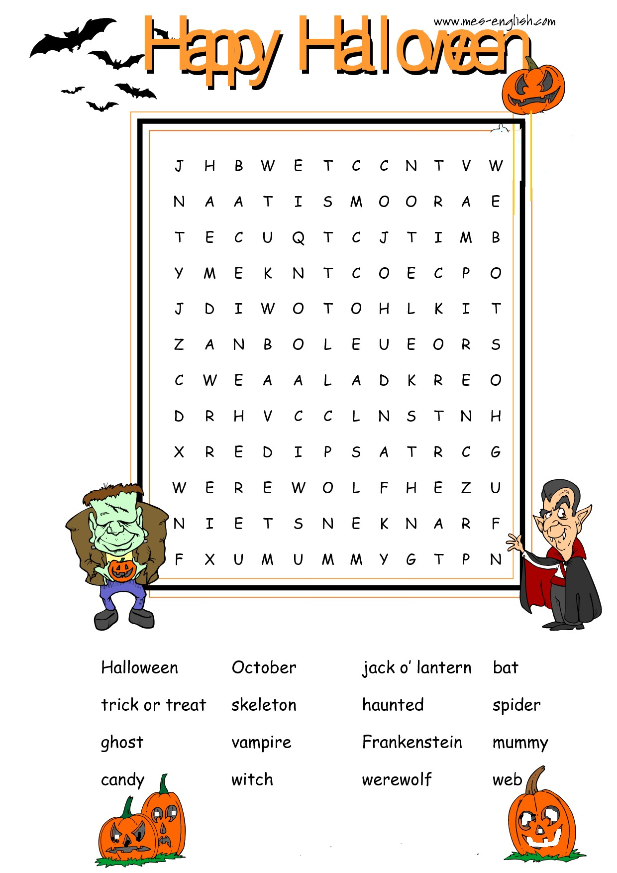 Halloween Jokes And Worksheets Reks Educational Ios