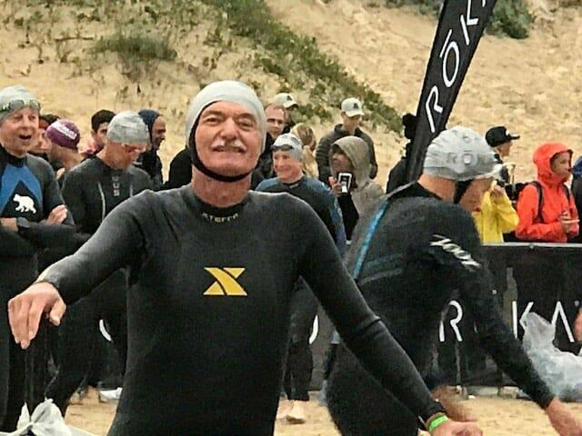 Brad Kirkley in his wetsuit