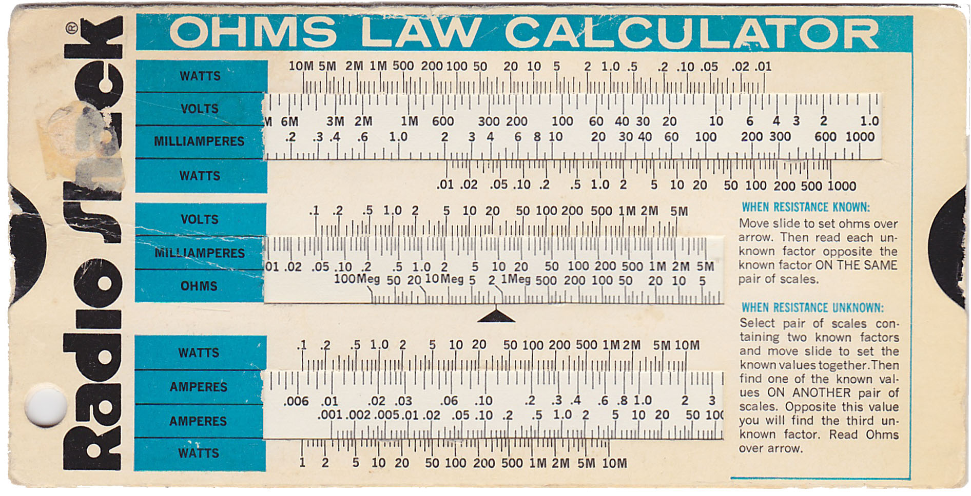 Ohms Law Calculator Slide Chart Can You Still Buy Them