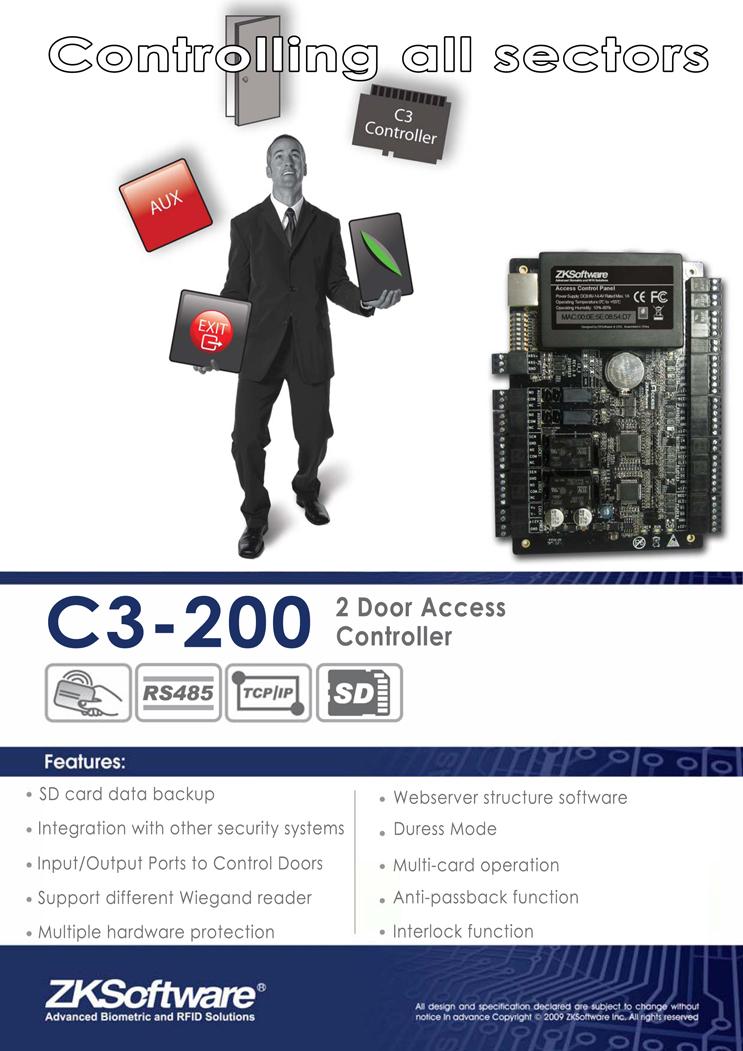 c3-200 access control panel