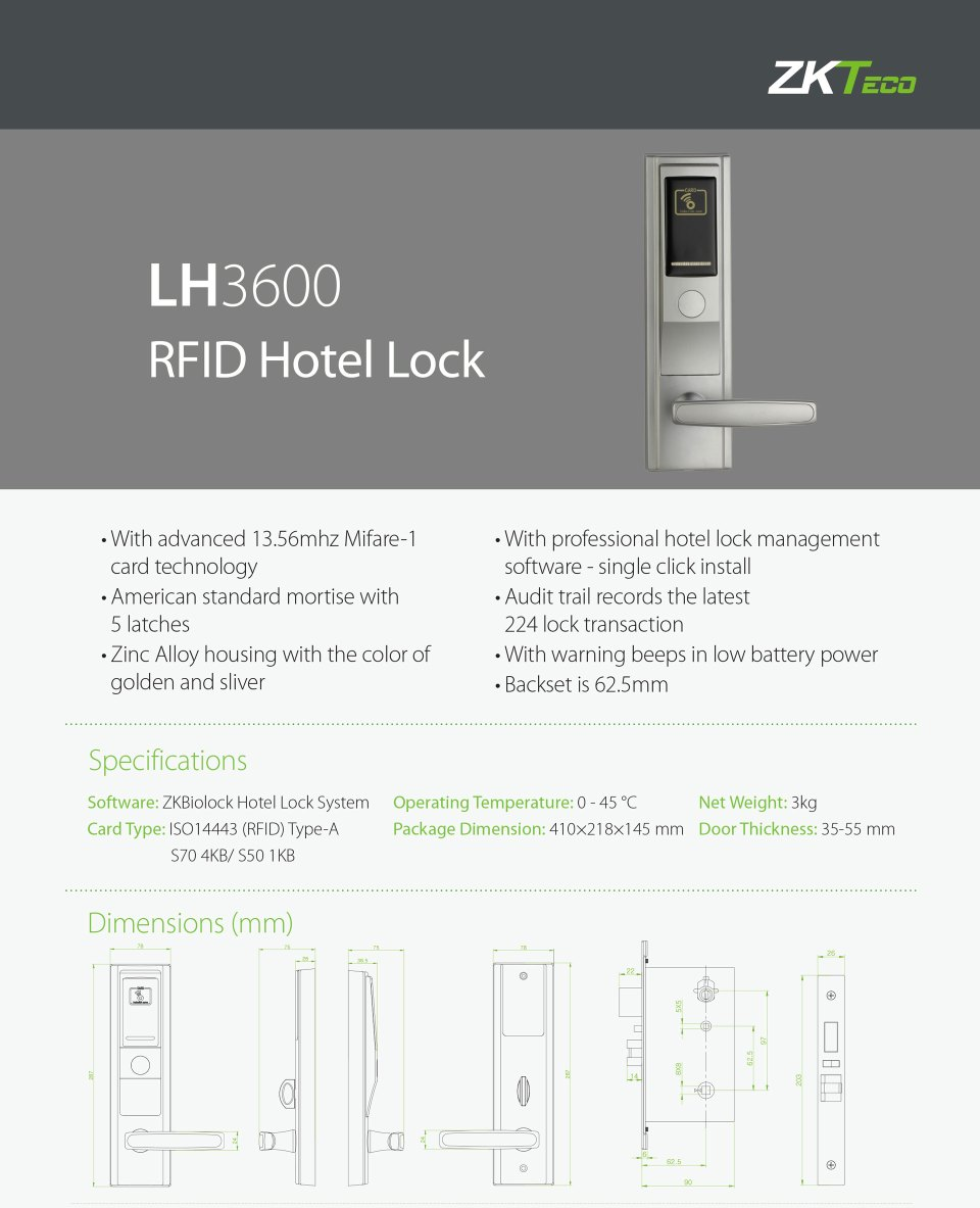 Hotel Door Lock Suppliers LH3600