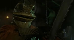 Frogs with chainsaws, where else but in Frogtown