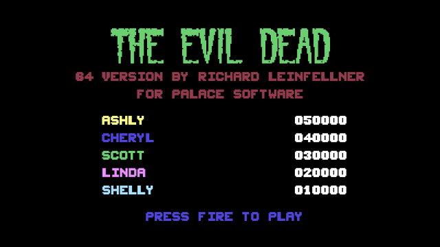 The Evil Dead (1984) Commodore 64