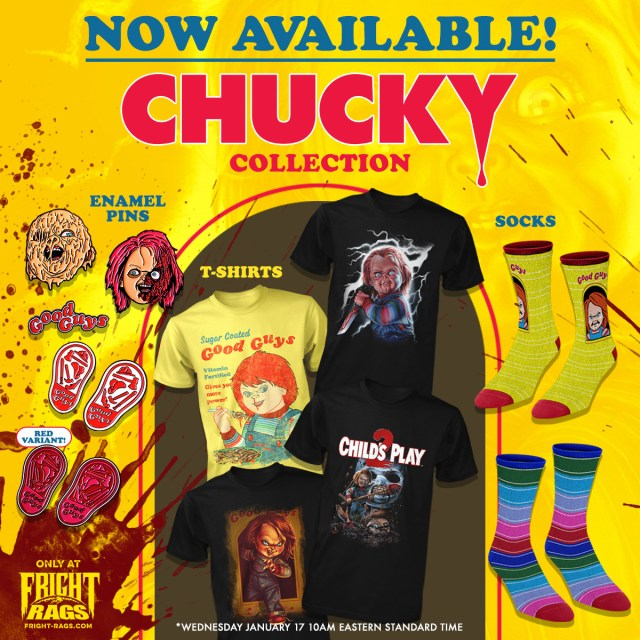 Sorry Jack, Chucky's Back! Fright-Rags' CHUCKY Collection Now Available