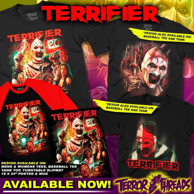 TERRIFIER, HALLOWEEN and DANIELLE HARRIS Apparel from Terror Threads