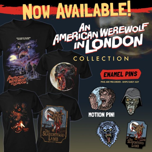 AN AMERICAN WEREWOLF IN LONDON, THE TEXAS CHAINSAW MASSACRE and JOE BOB BRIGGS Apparel from Fright-Rags