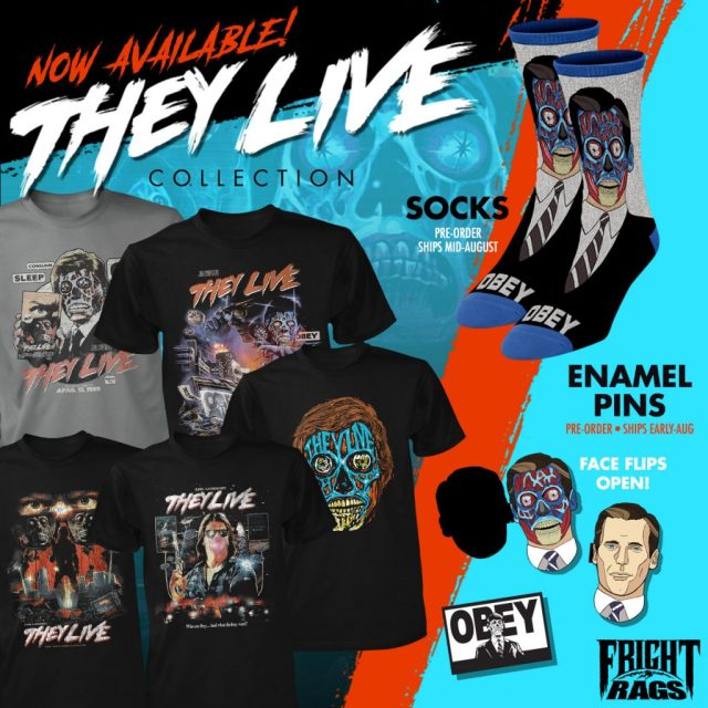 Consume THEY LIVE & GARBAGE PAIL KIDS Merchandise from Fright-Rags