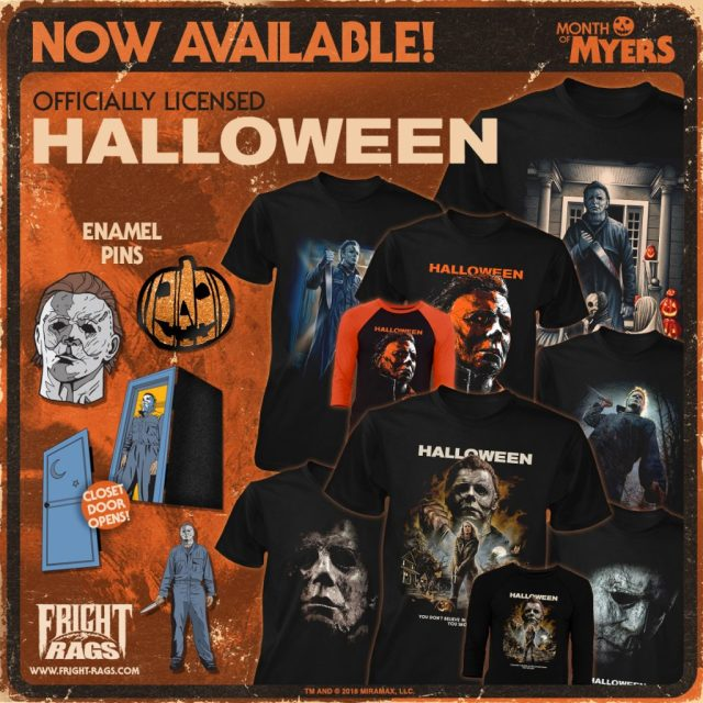 HALLOWEEN (2018) Official Merchandise Available Now from Fright-Rags