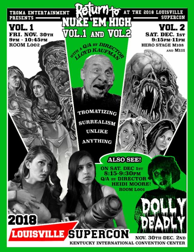 Louisville Supercon Welcomes Troma President Lloyd Kaufman & Dolly Deadly Director Heidi Moore