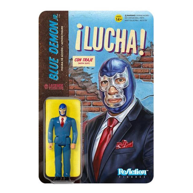 Super7 LEGENDS OF LUCHA LIBRE ReAction & M.U.S.C.L.E. Figures: Blue Demon Jr., Solar & Tinieblas Jr.