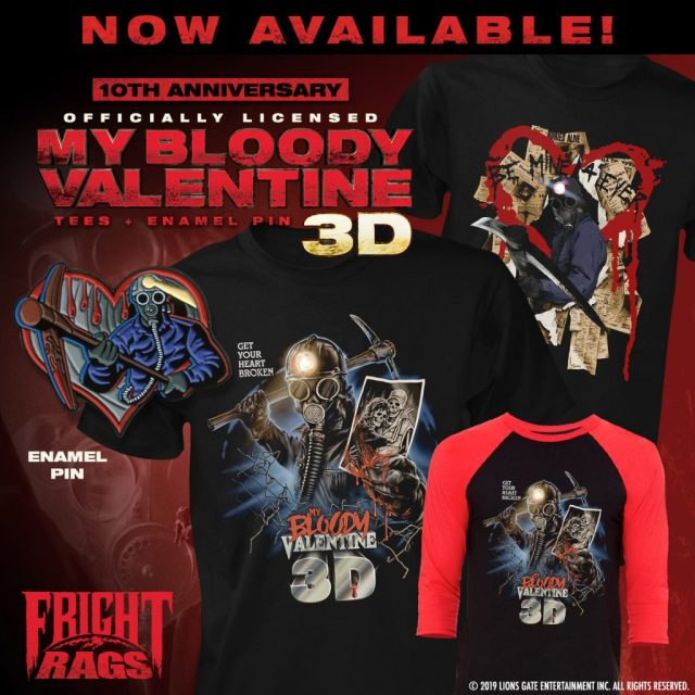Fright-Rags' Valentine's Day Gifts Include ELVIRA, MY BLOODY VALENTINE 3D & THE WARRIORS Apparel