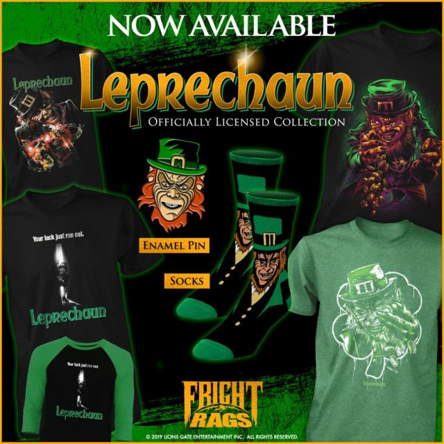 Get Lucky This Saint Patrick's Day with Fright-Rags' LEPRECHAUN & THE FLY Apparel